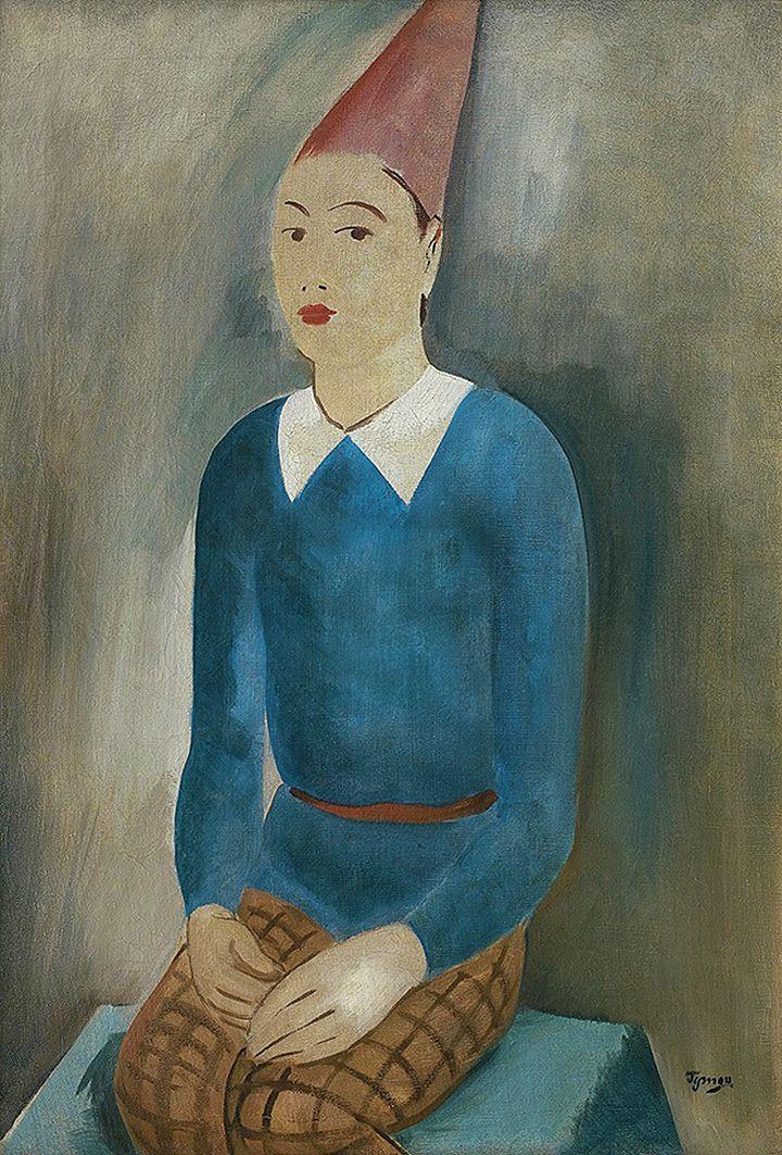 Тимон Нешеловський. Арлекін, 1932; олія, полотно