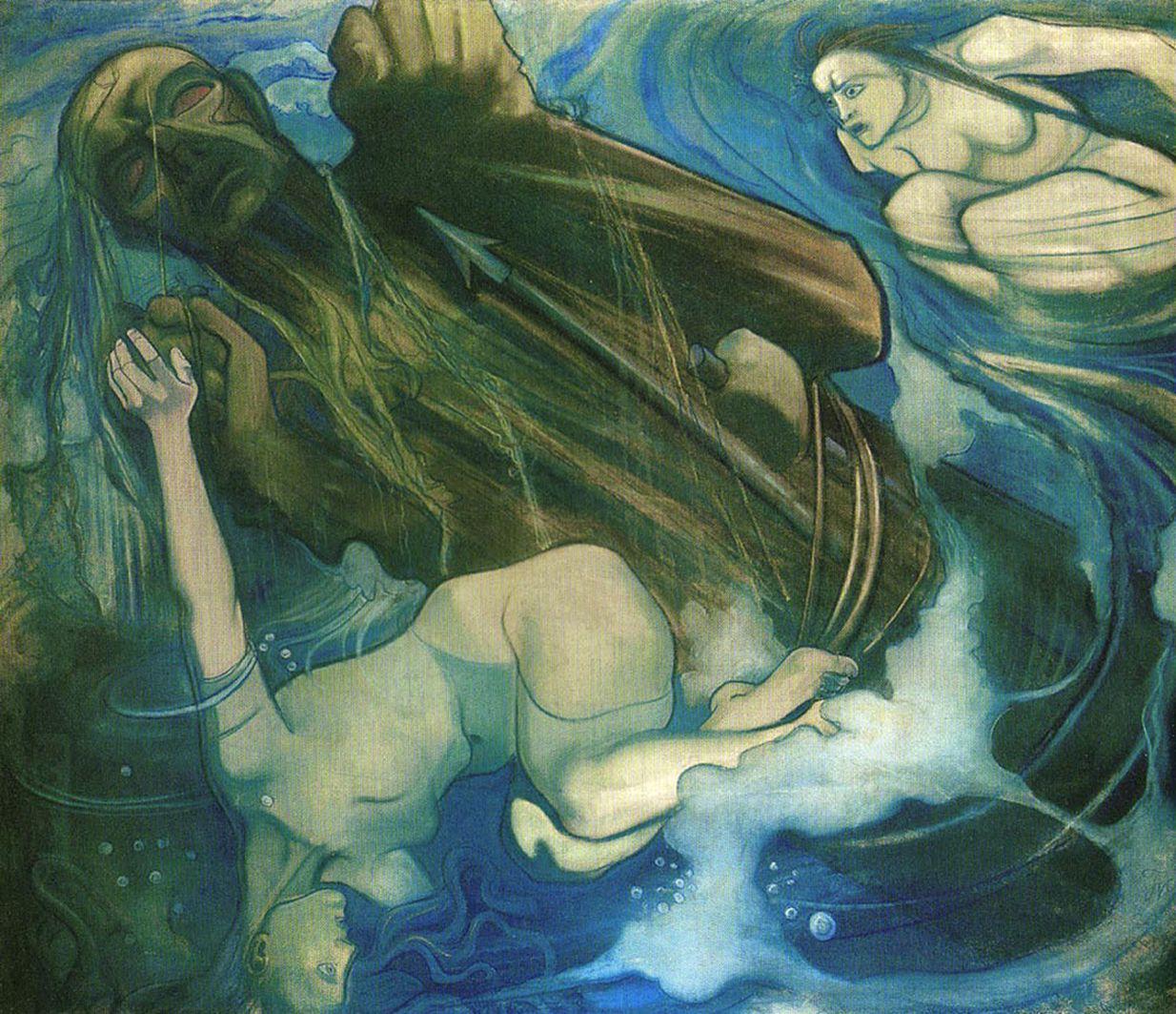 Тимон Нешеловський. Король Духа, 1909; папір, пастель; NMW