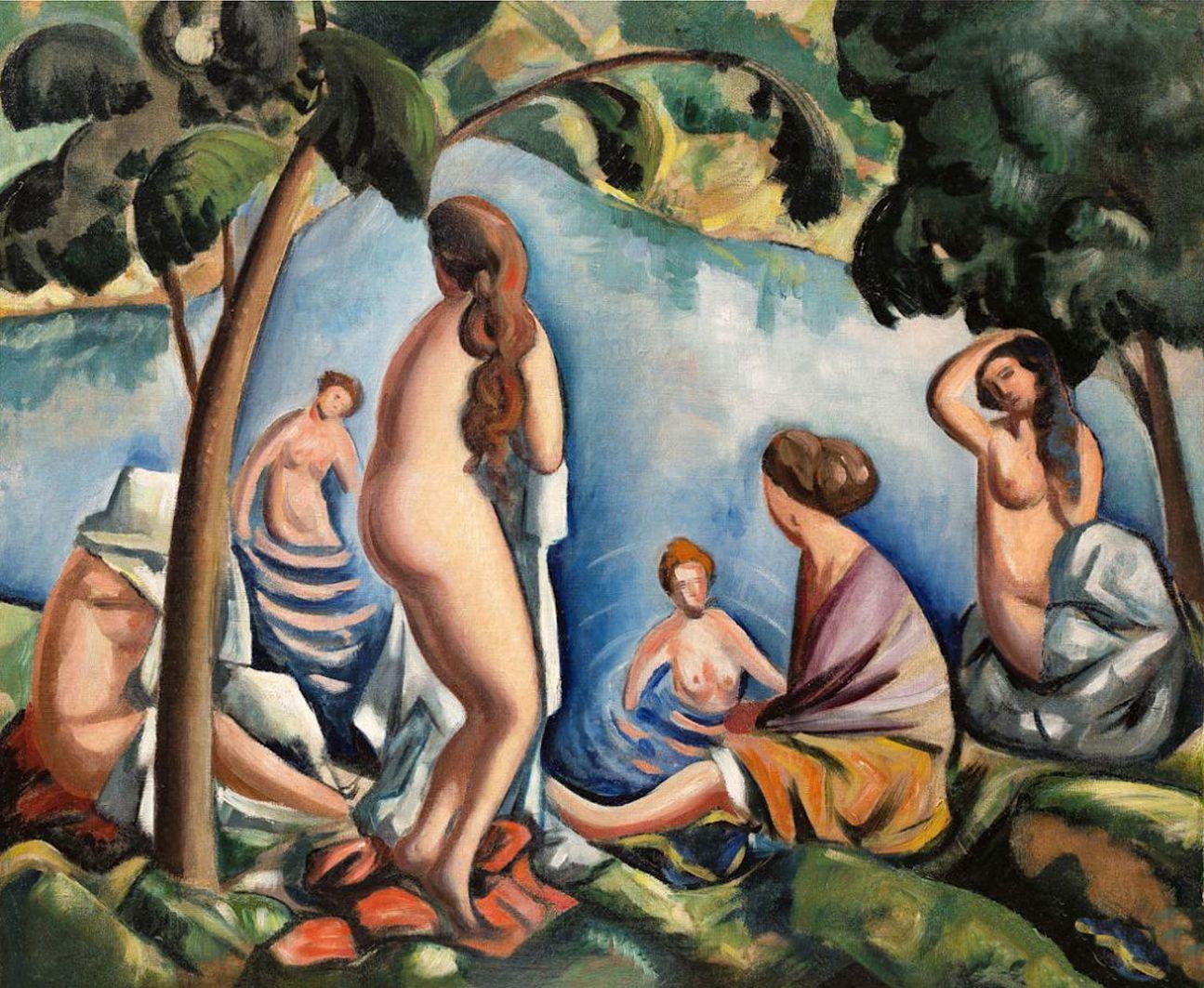 Тимон Нешеловський. Купальниці, 1919; олія, полотно