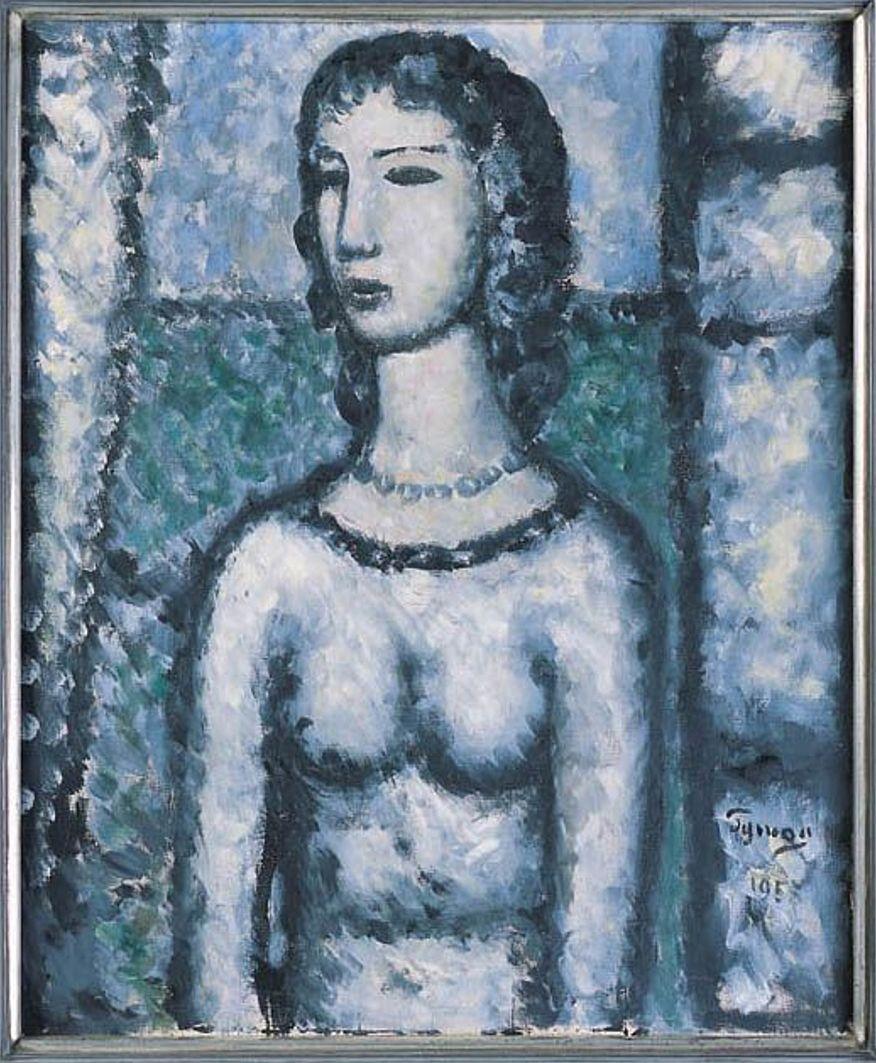 Тимон Нешеловський. Портрет, 1958; олія, полотно