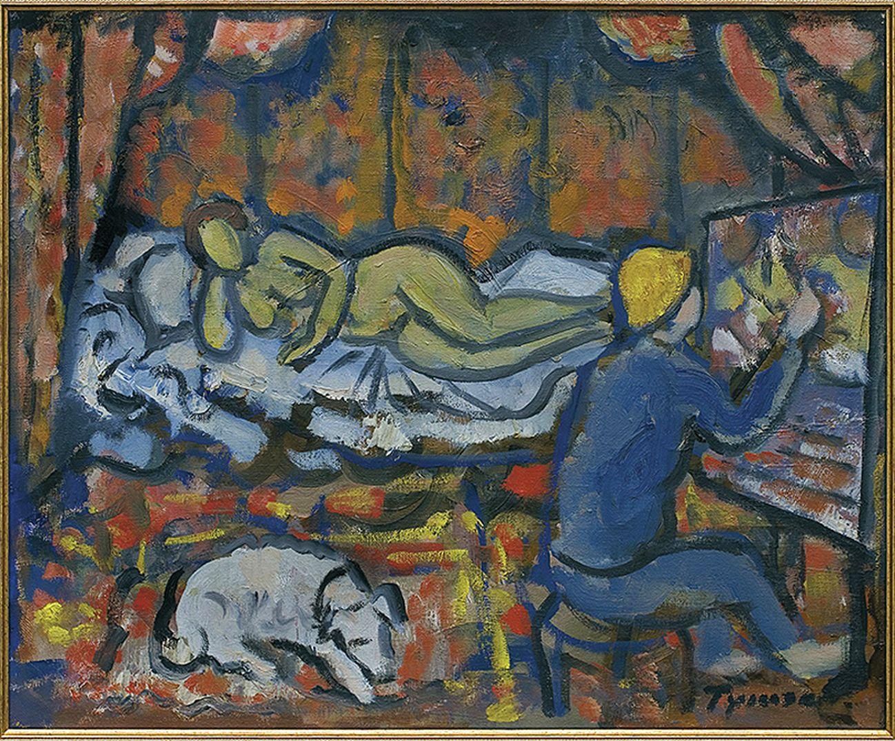 Тимон Нешеловський. В студії, 1950-ті; олія, полотно