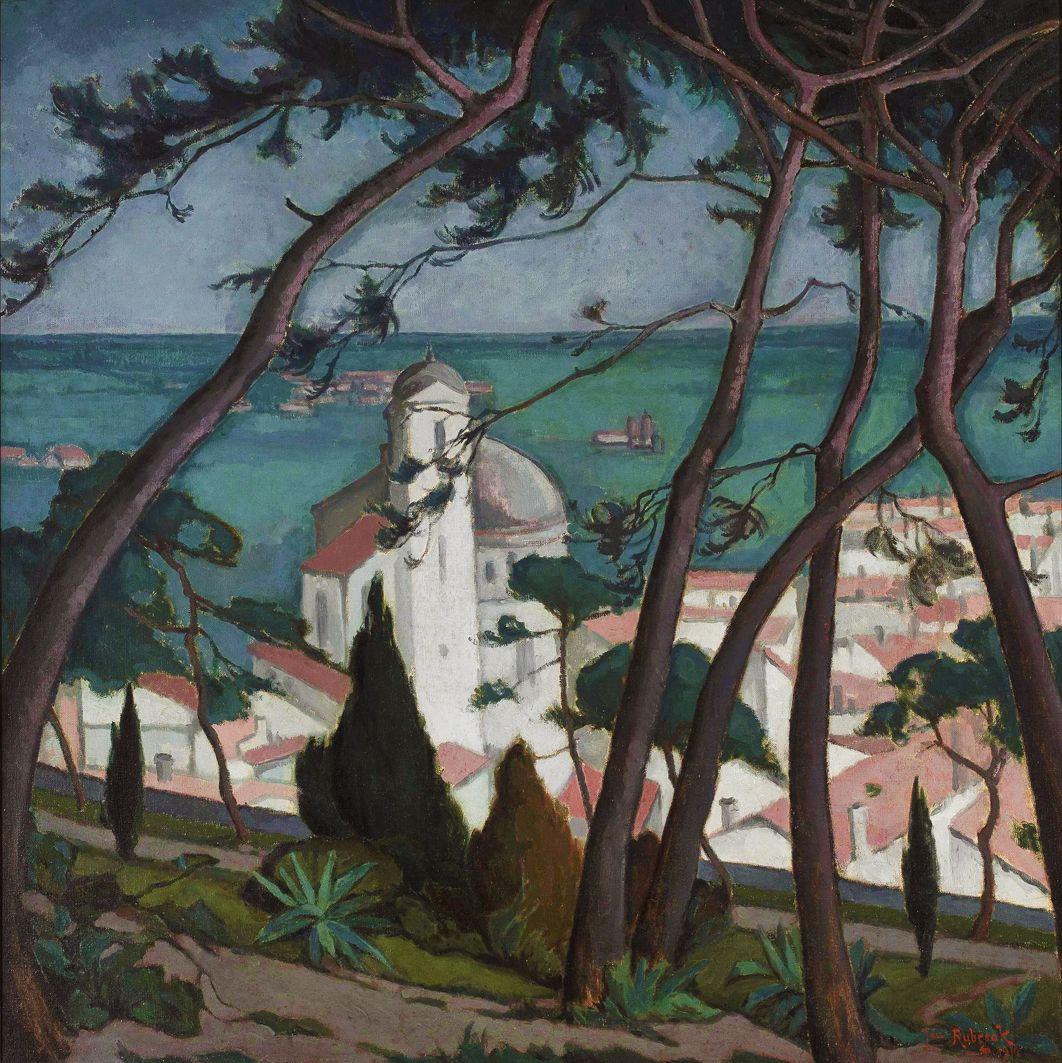 Ян Рубчак. Пейзаж, 1914; олія, полотно; NMW