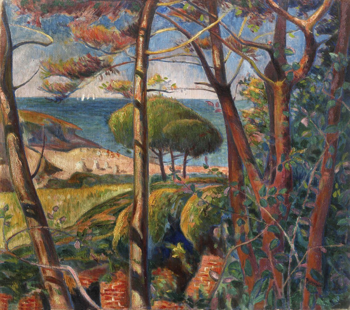 Ян Рубчак. Пейзаж в сонячний день, 1912; олія, полотно; MSK