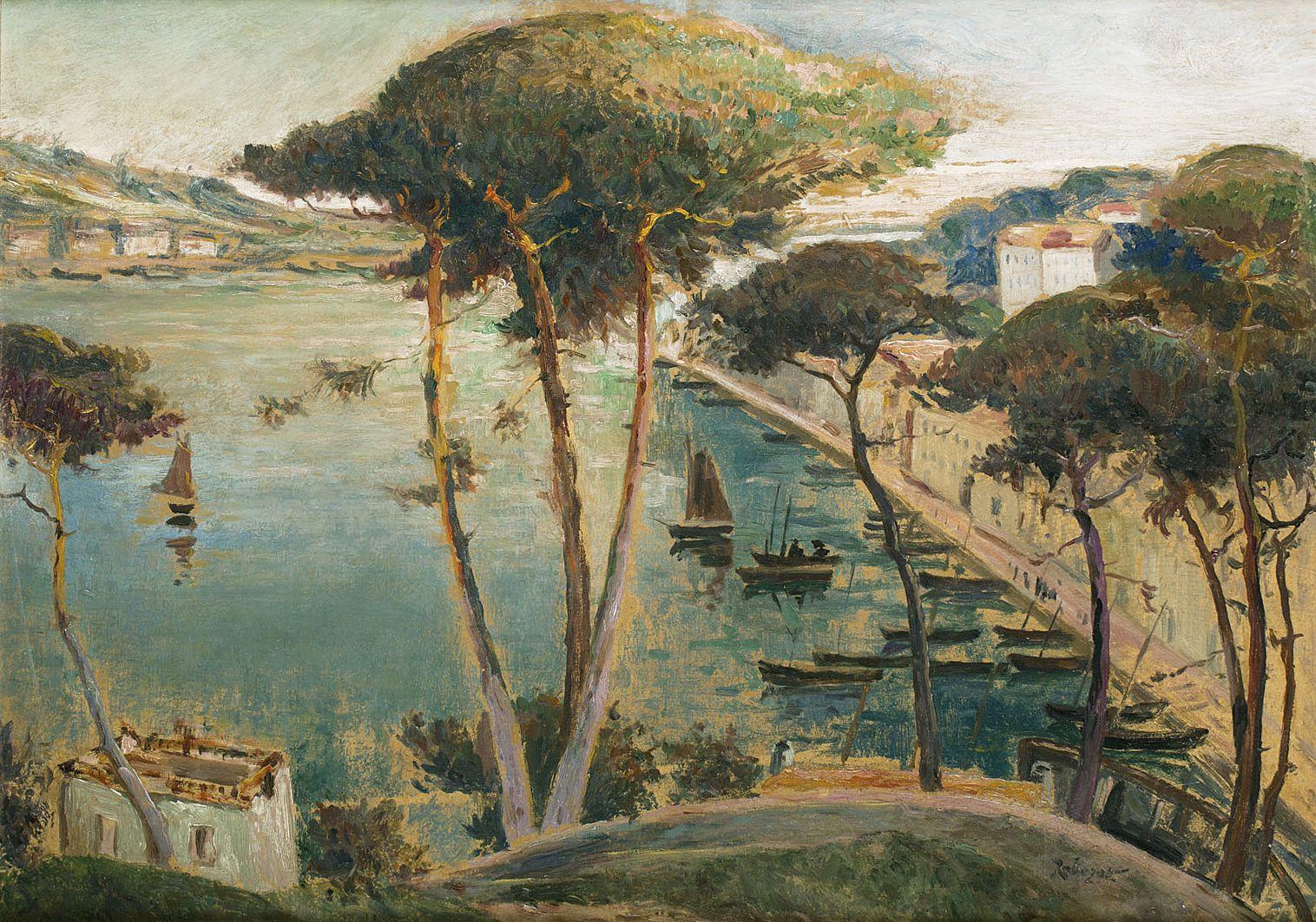 Ян Рубчак. Порт Одьєрн, 1912; картон, олія