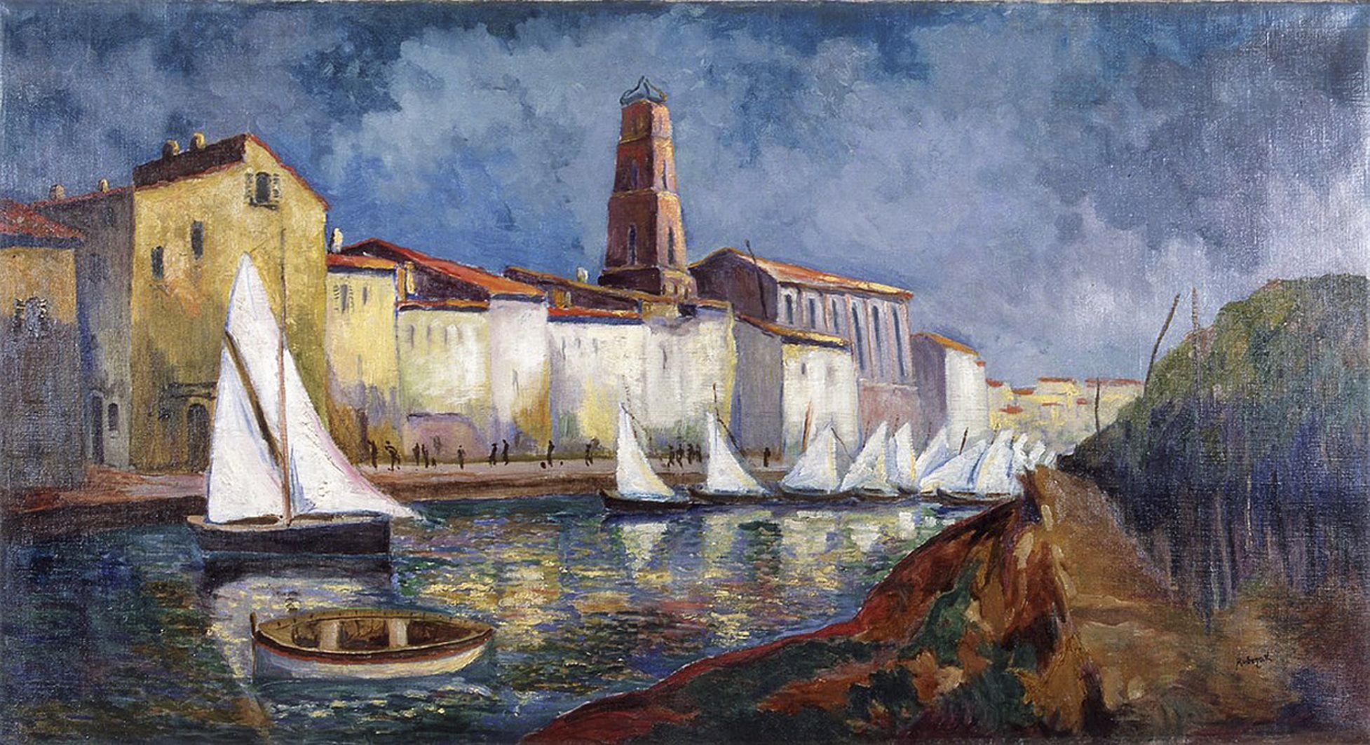 Ян Рубчак. Порт поблизу Марселя, 1912; олія, полотно