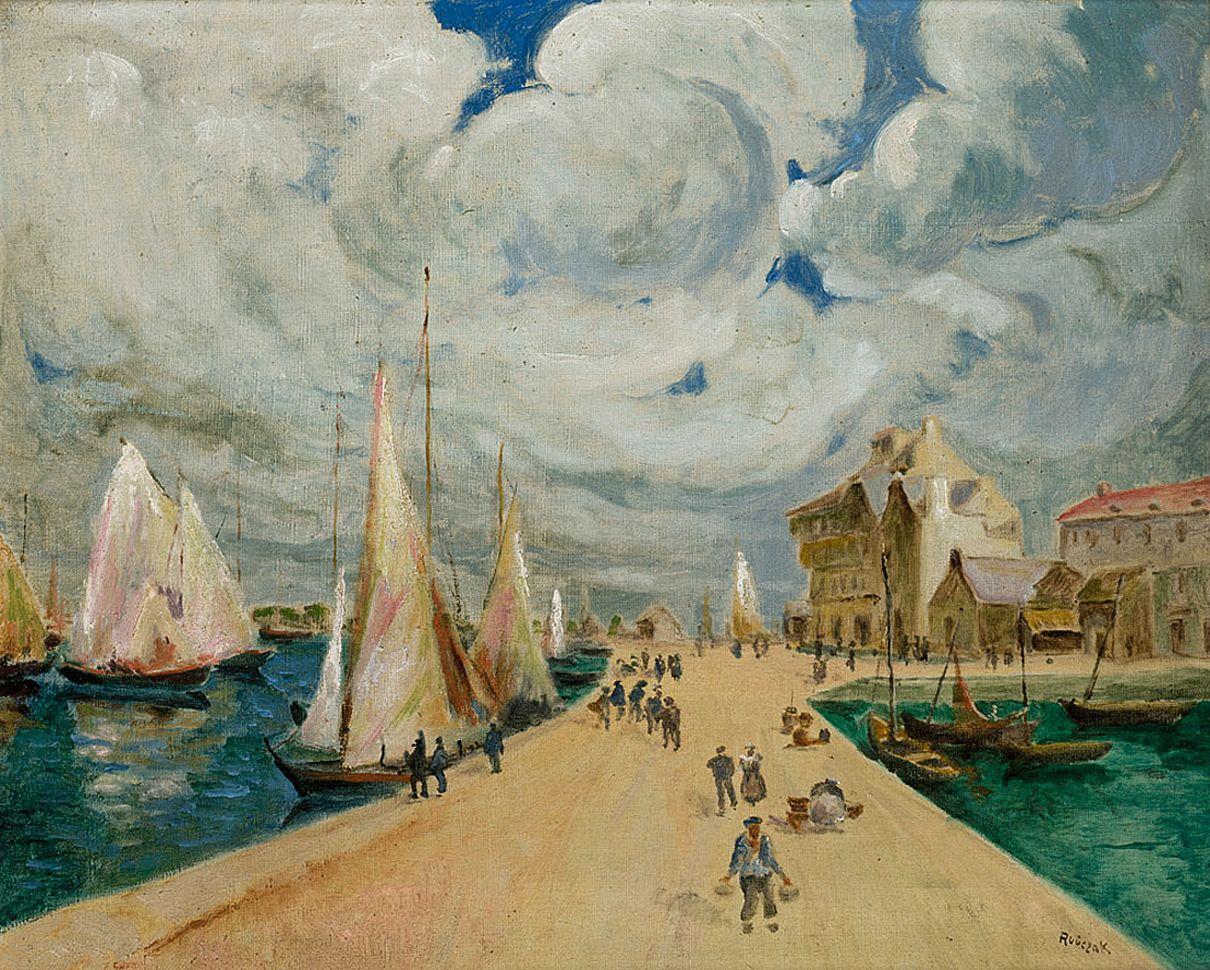 Ян Рубчак. Прибережний пейзаж, 1934; олія, полотно; NMK