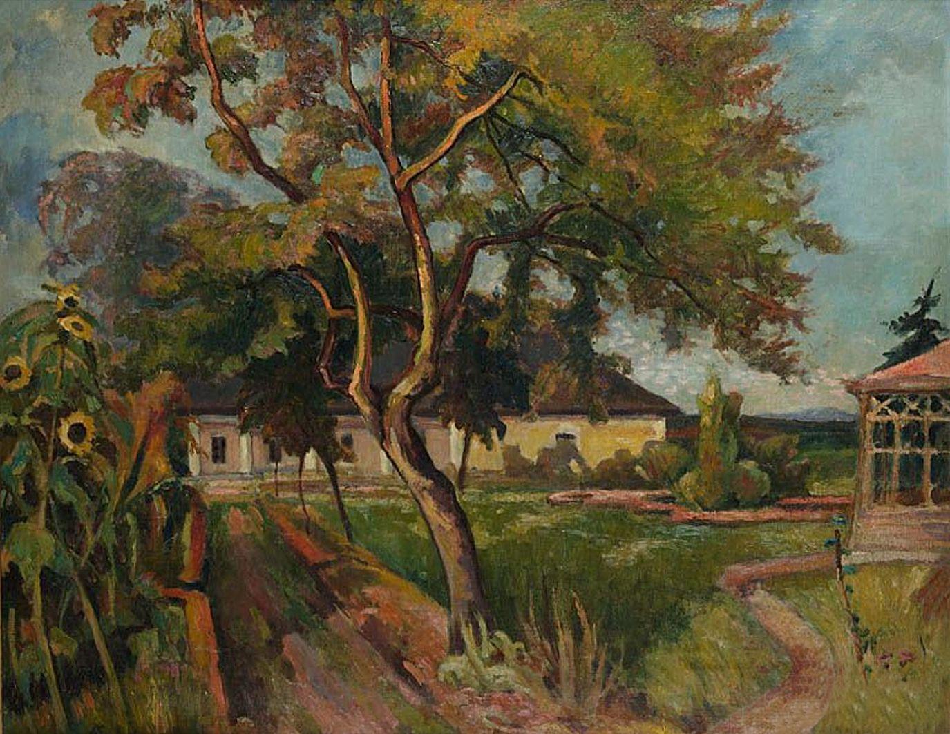 Ян Рубчак. Садибний будинок в Молниці, 1910; олія, полотно