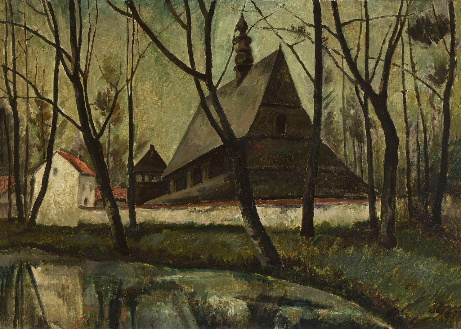 Ян Рубчак. Старий костел, 1930; олія, полотно; NMW