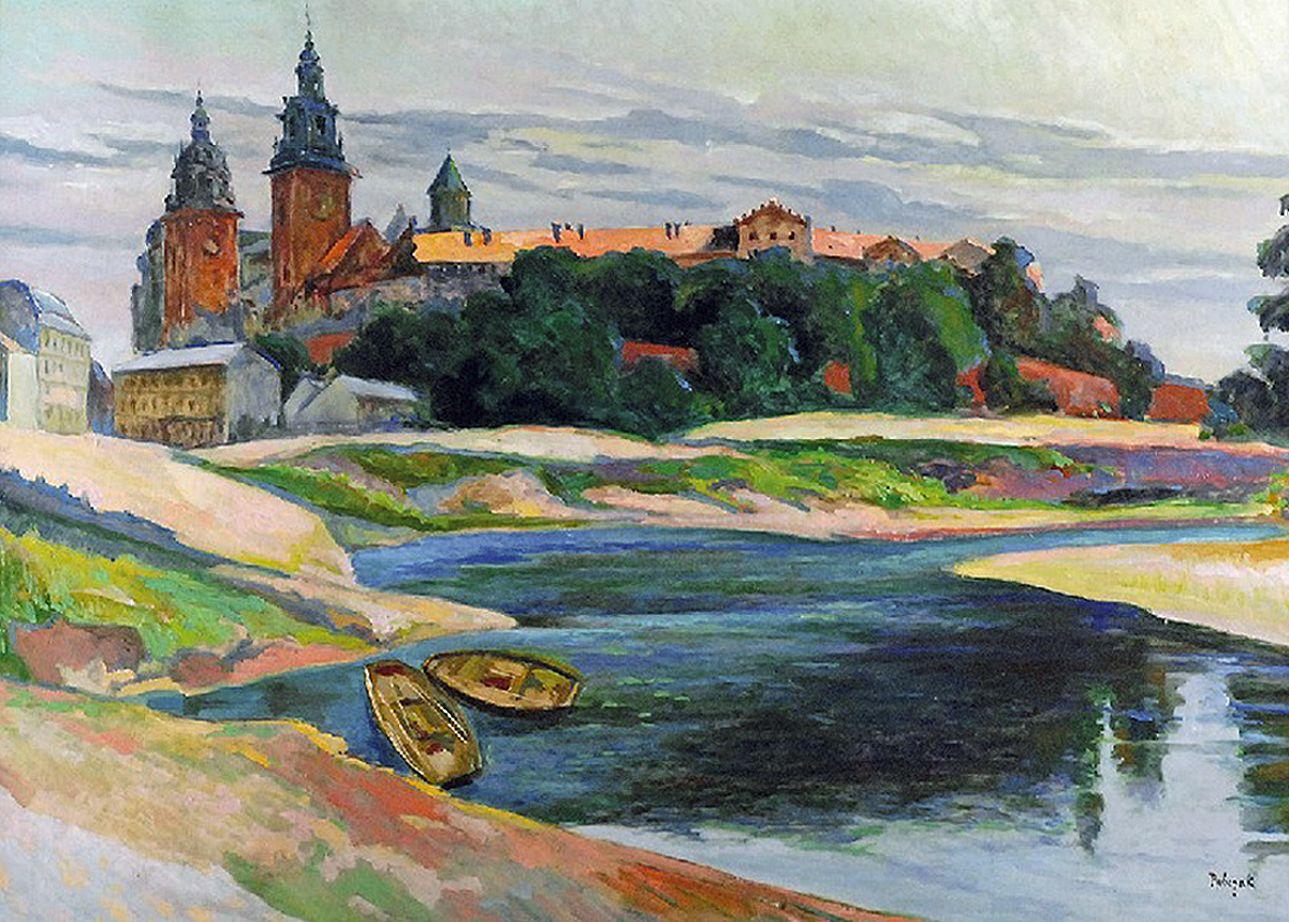 Ян Рубчак. Вид на Вавель, 1930; олія, полотно