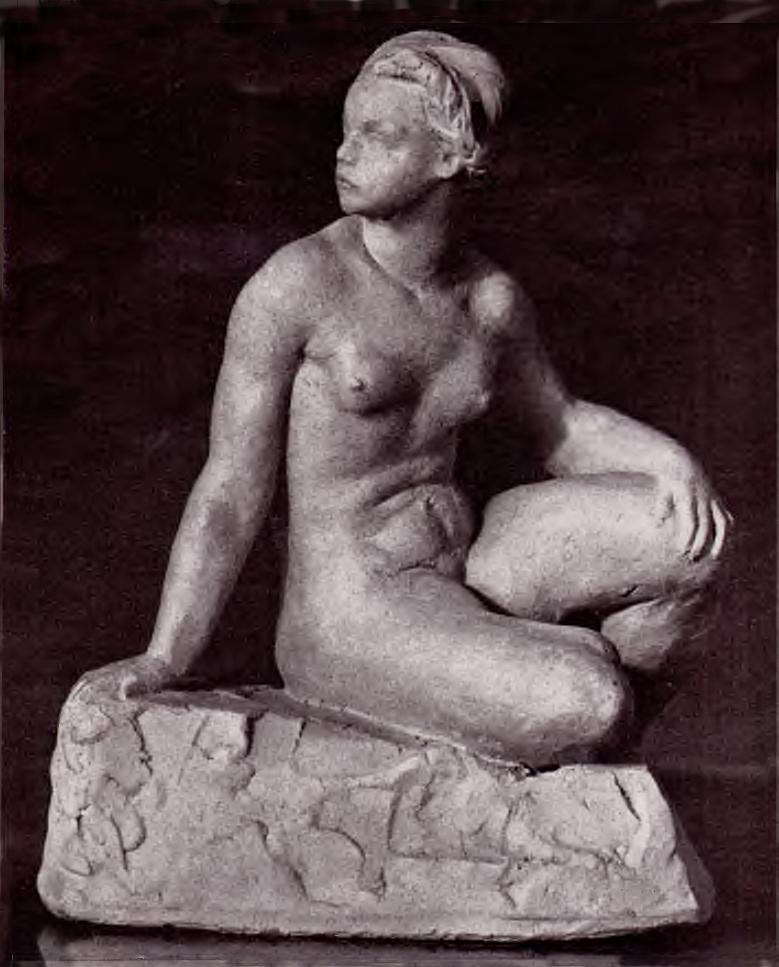 Антін Павлось. Відпочинок, 1937; теракота