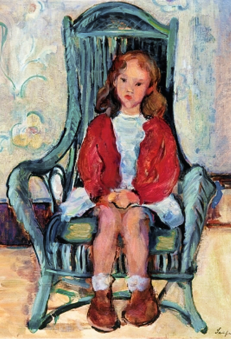 Давід Сейфер. Дівчинка в кріслі; олія, полотно