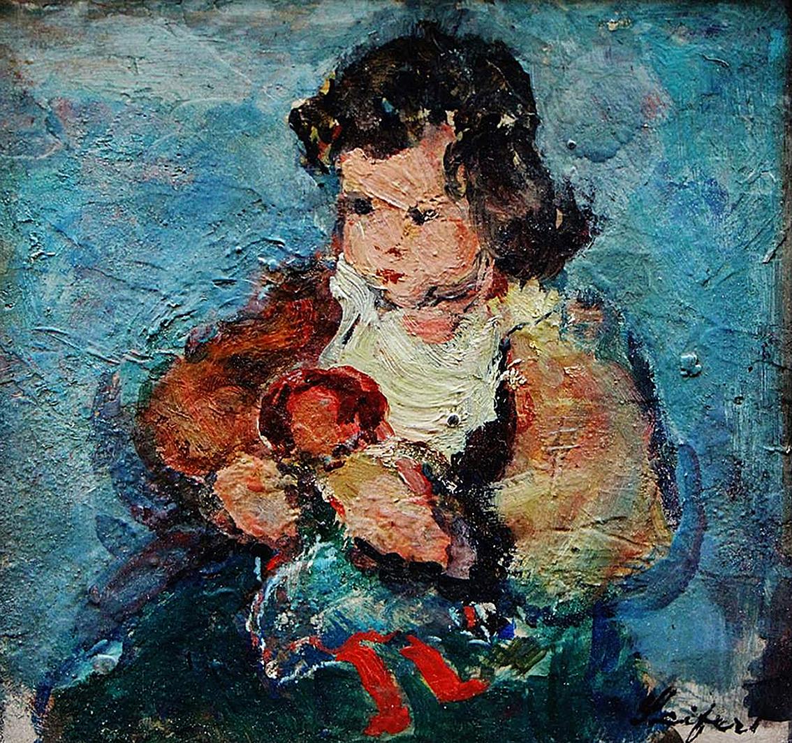 Давід Сейфер. Дитина з лялькою; олія, полотно