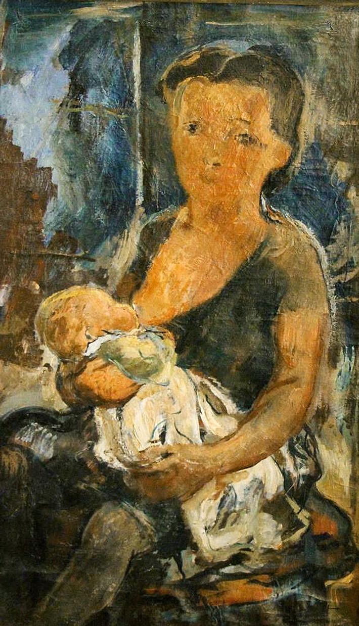 Давід Сейфер. Материнство, 1926; олія, полотно