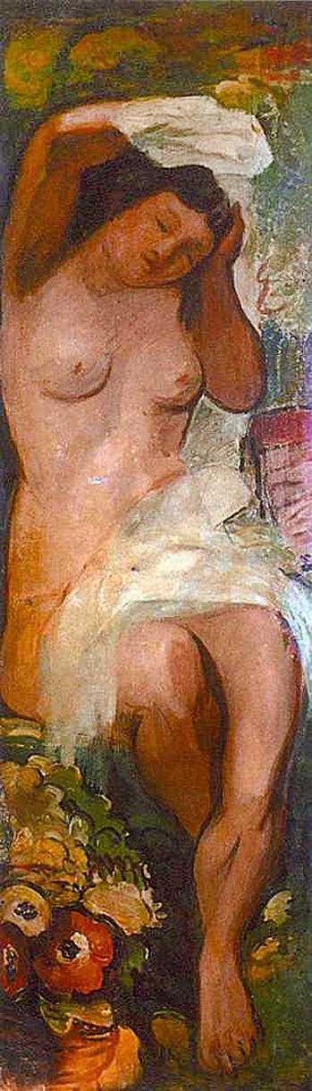 Давід Сейфер. Ню, 1927, декор дпя Ла Куполь
