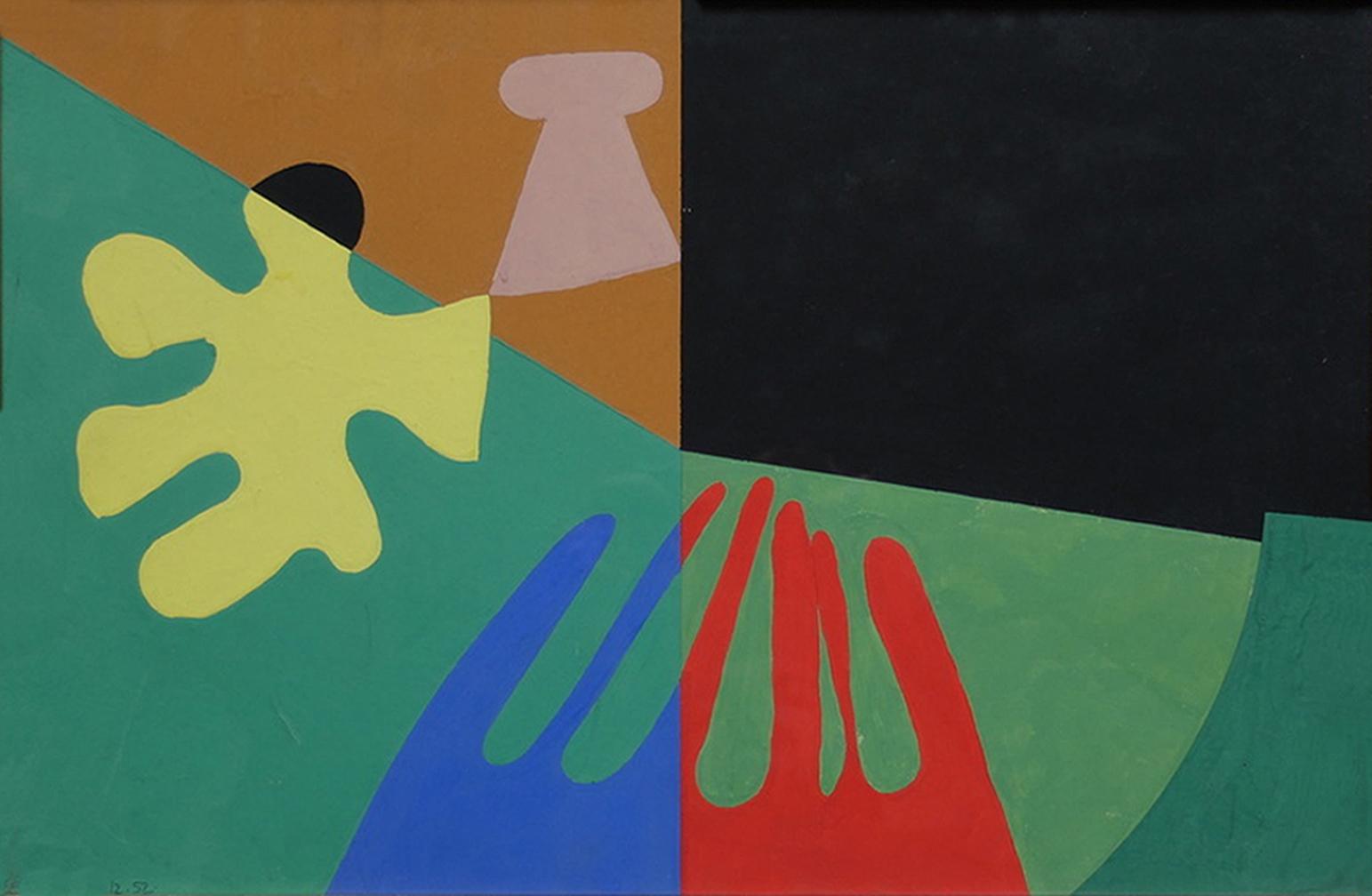 Емануель Проуллер. Абстрактна композиція, 1952; папір, гуаш