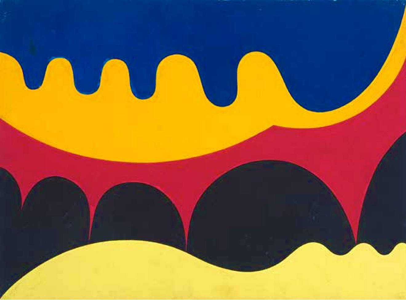 Емануель Проуллер. Акведук, 1950; папір, гуаш