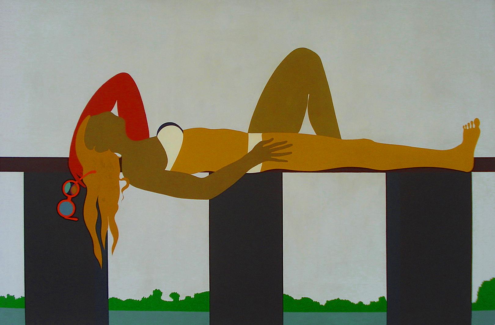 Емануель Проуллер. На березі озера, 1973; олія, полотно