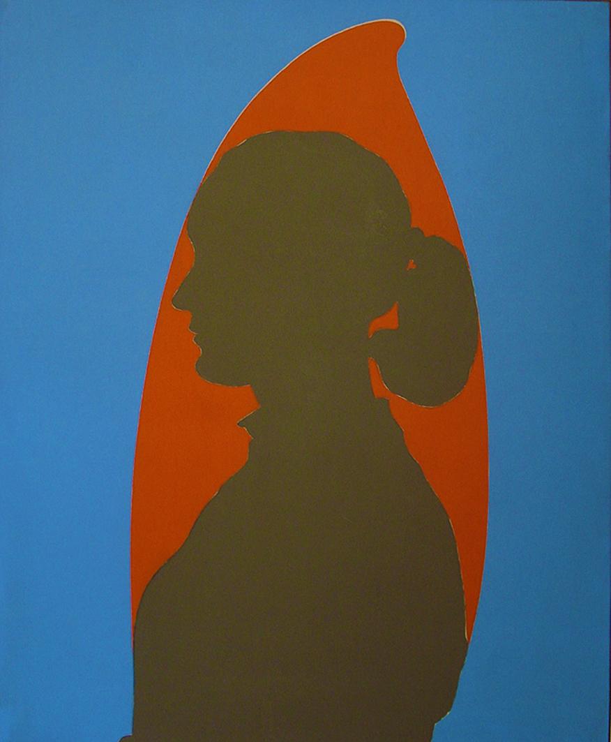 Емануель Проуллер. Жіночий портрет в профіль, 1955; олія, полотно