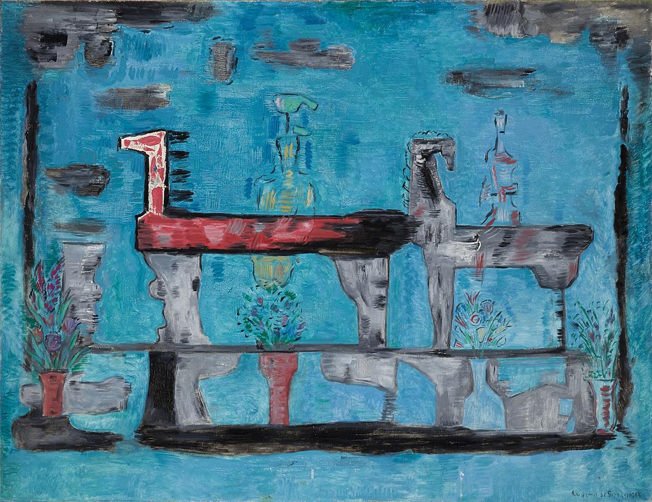 Євген Гепперт. Амазонки, 1965; полотно, олія