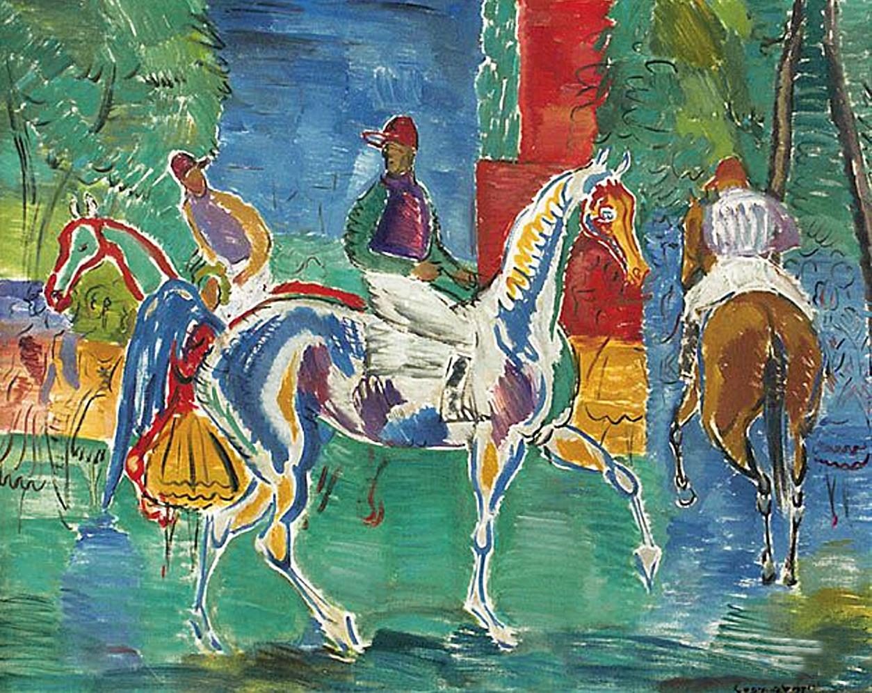 Євген Гепперт. Жокеї, 1960; полотно, олія