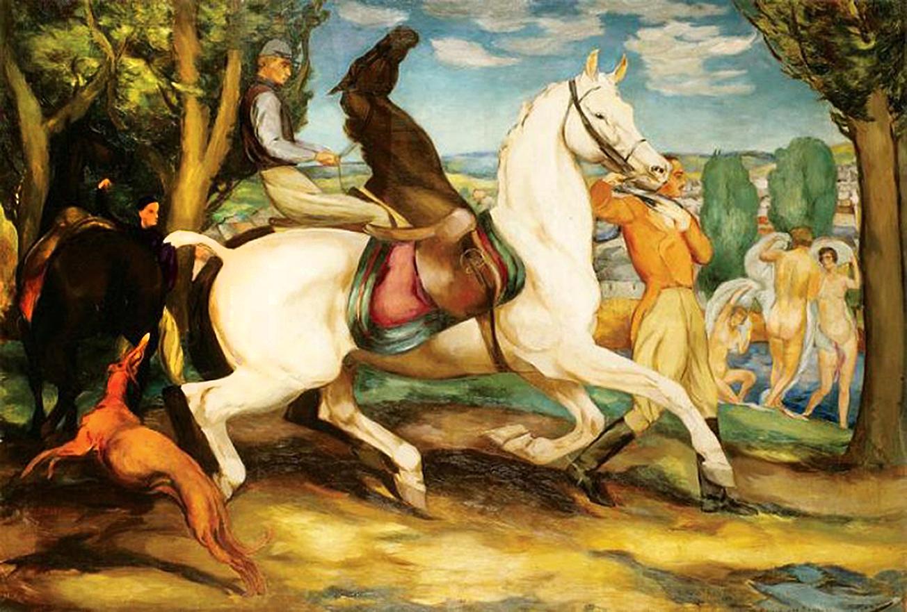 Євген Гепперт. Мисливець та три грації, 1924; полотно, олія; NMWr
