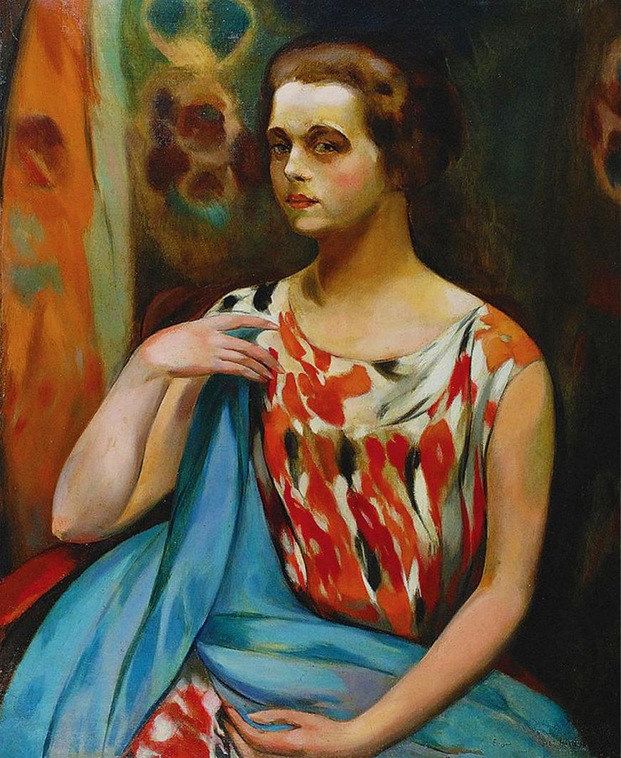 Євген Гепперт. Портрет, 1923; полотно, олія