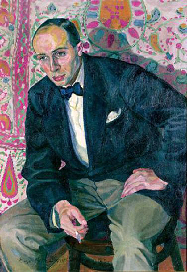 Євген Гепперт. Портрет, 1926; полотно, олія; NMWr