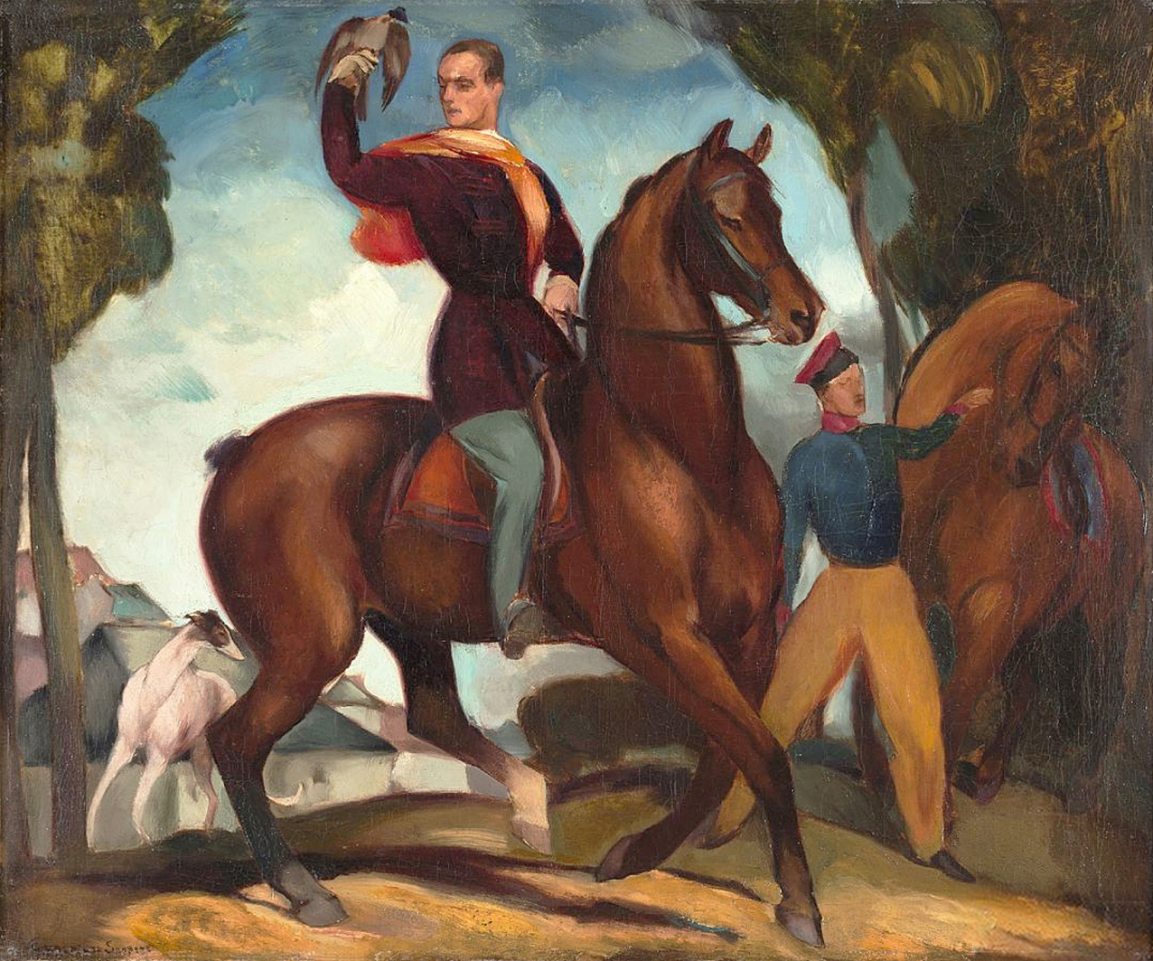 Євген Гепперт. Вершник, 1924; полотно, олія