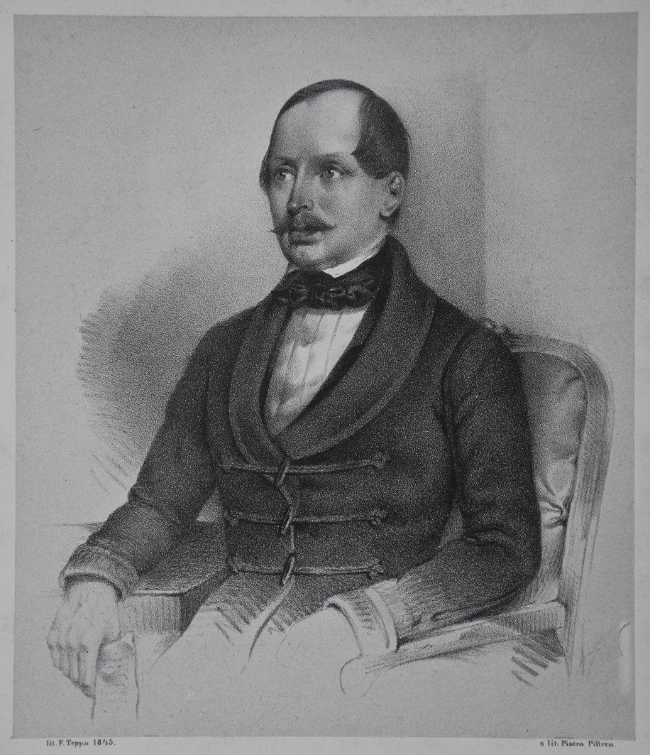 Францішек Томаш Тепа. Актор Вітас Смоховський, 1845; літографія