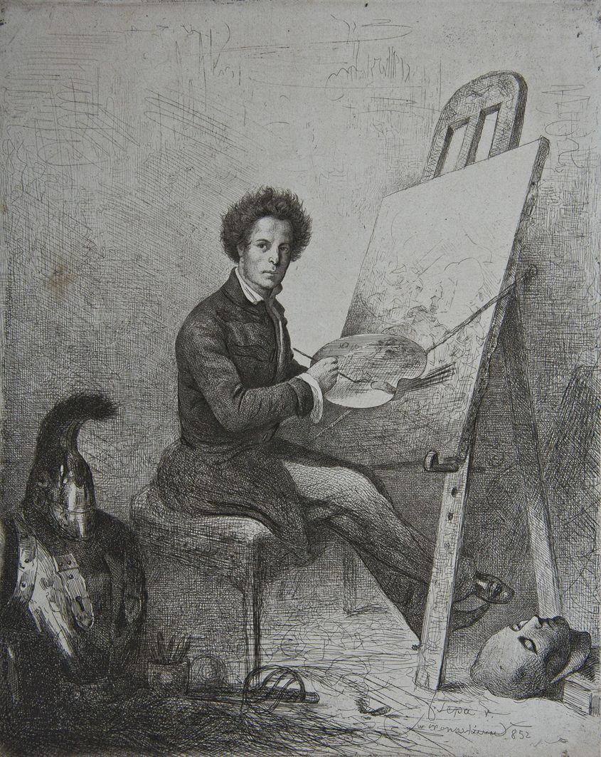Францішек Томаш Тепа. Автопортрет, 1852; гравюра