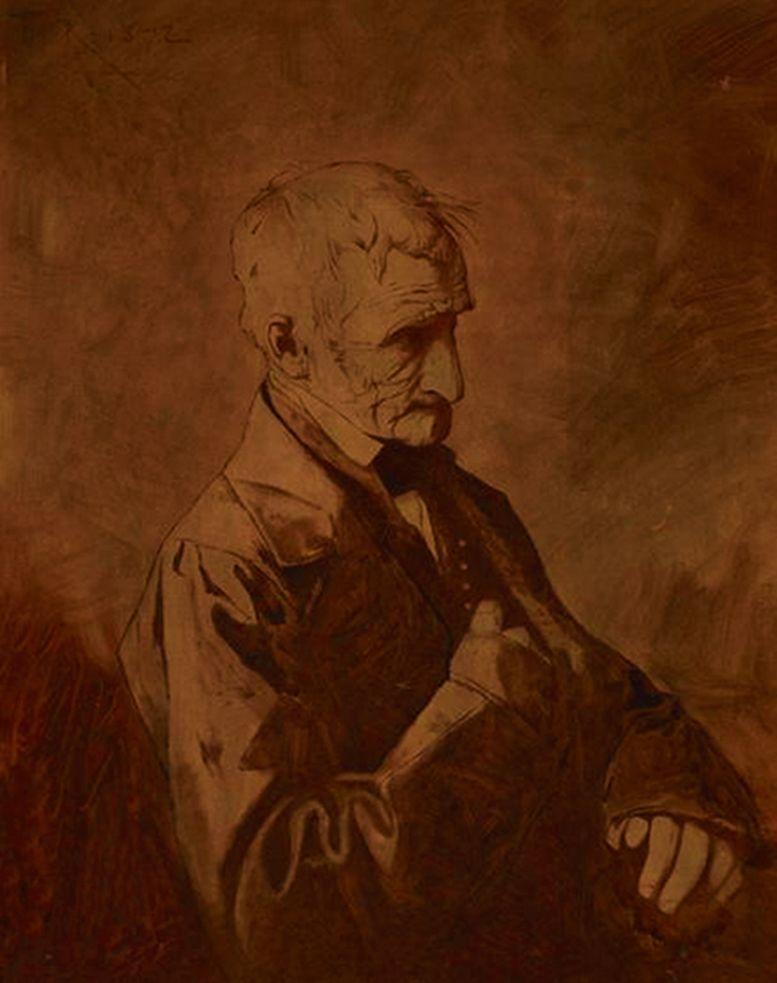 Францішек Томаш Тепа. Портрет батька, 1872, NMK