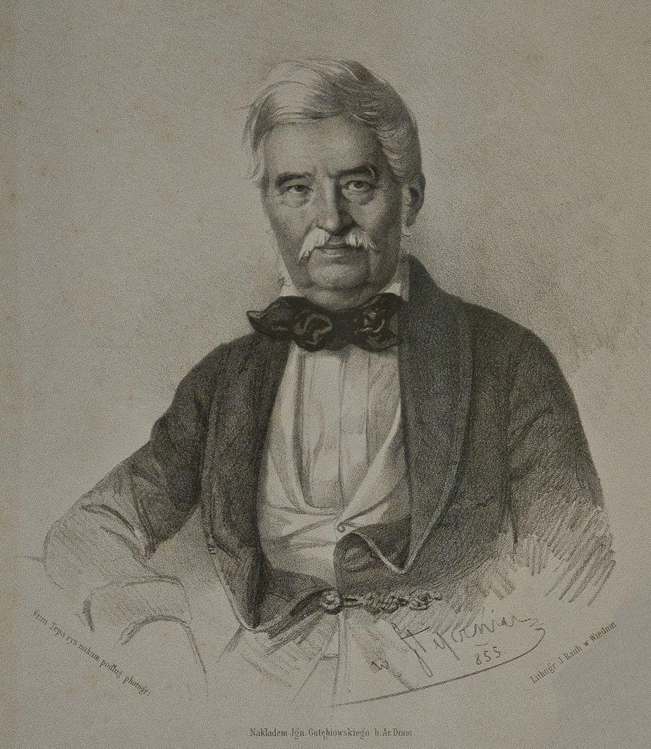 Францішек Томаш Тепа. Актор Ян Непомук Камінський, 1853; літографія; ЛНБ