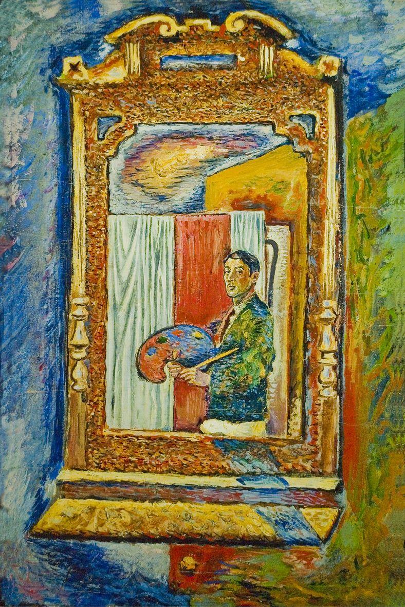 Єжи Яніш. Автопортрет у дзеркалі, 1938; полотно, олія; NMWr