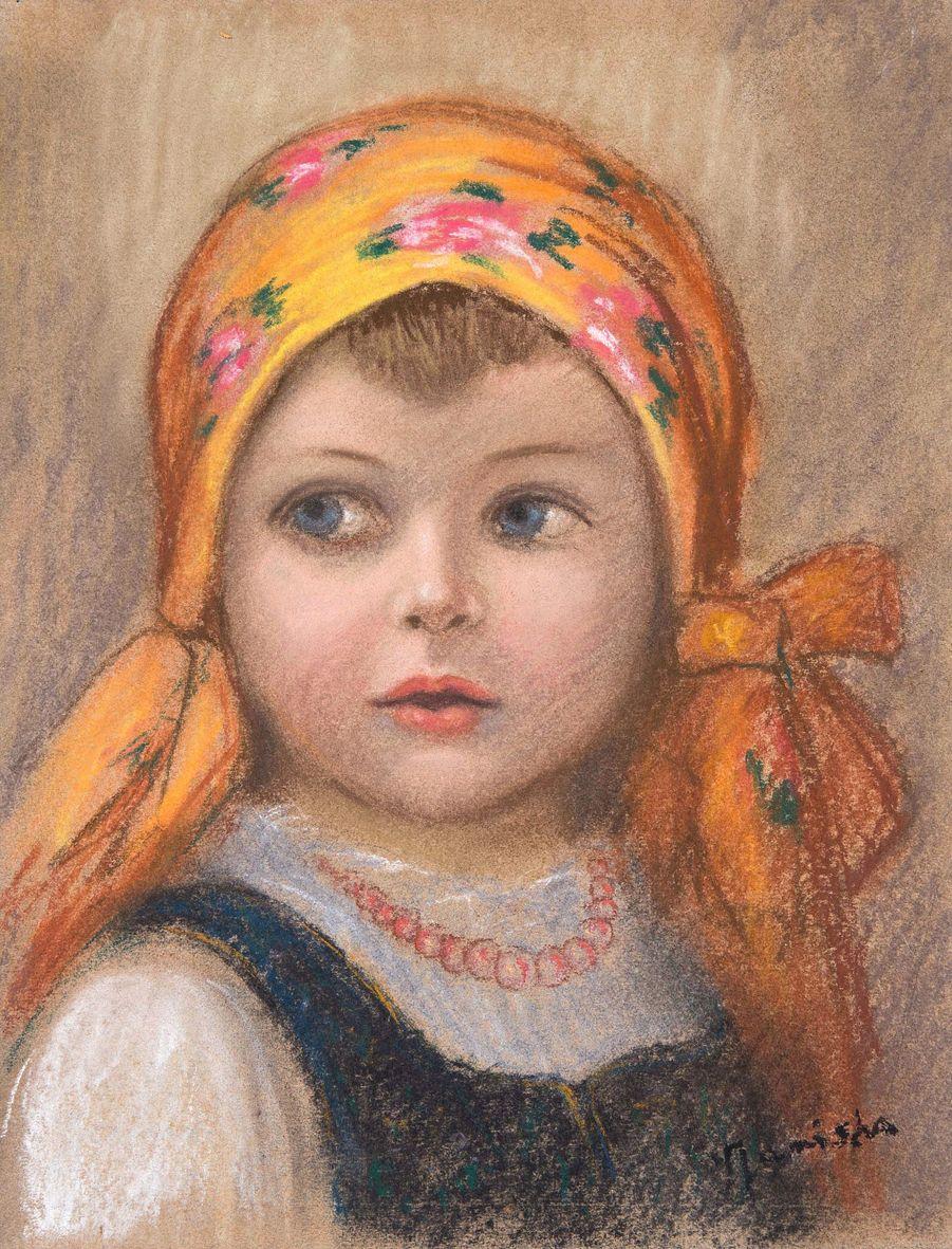 Єжи Яніш. Дитя гір, 1931; папір, пастель