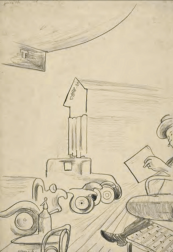 Єжи Яніш. Париж Сент Жермен, 1929; папір, олівець