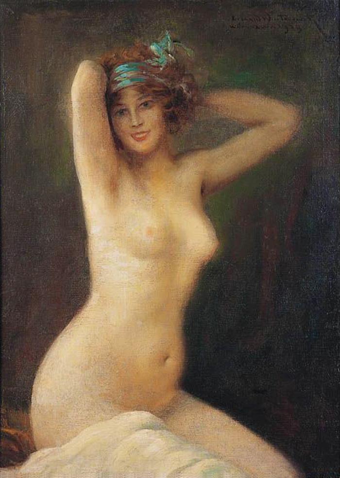 Леонард Вінтеровський. Акторка Казимира Нивяровська, 1923; олія, полотно