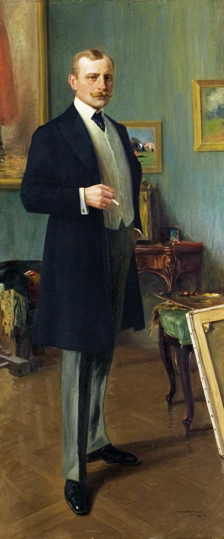 Леонард Вінтеровський. Автопортрет, 1911; олія, полотно; ЛНГМ