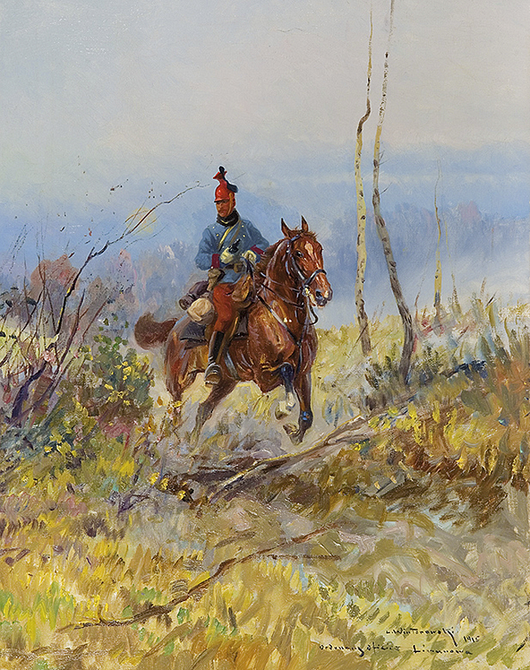 Леонард Вінтеровський. Австрійський офіцер уланів, 1915; олія, полотно