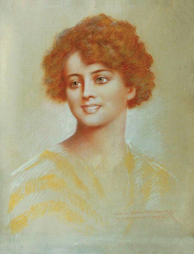 Леонард Вінтеровський. Рудоволоса красуня, 1922; папір, пастель