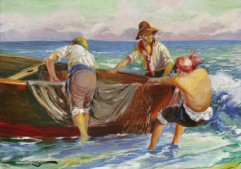 Леонард Вінтеровський. Неополітанські рибалки