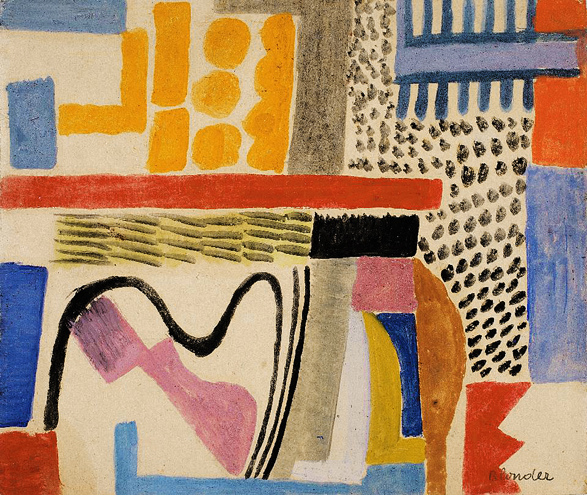 Саша Блондер. Абстрактна композиція, 1937; папір, акварель, гуаш; NMW