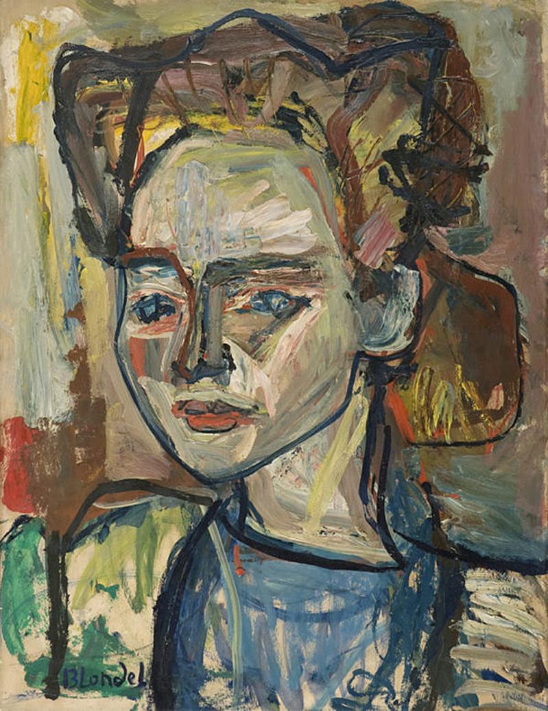 Саша Блондер. Елізабет Морель 1945; картон, олія