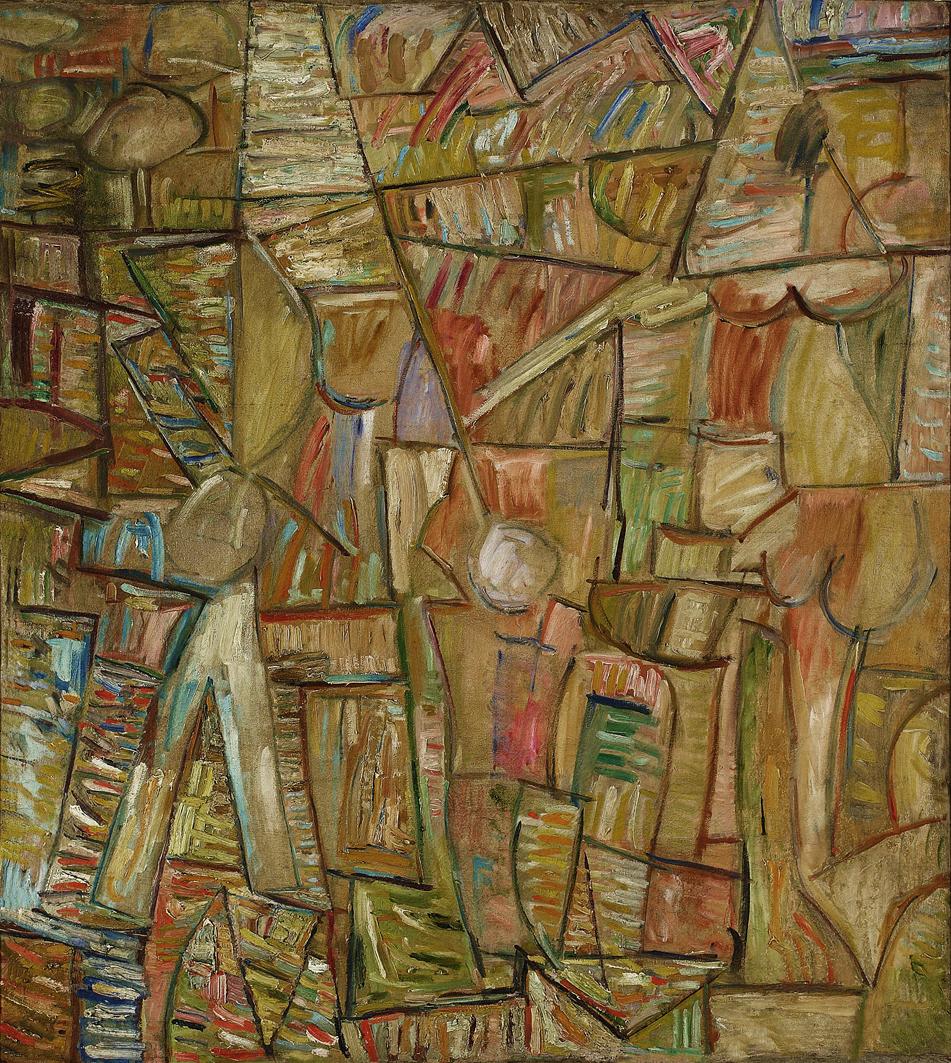 Саша Блондер. Композиція, 1937; полотно, олія; NMW