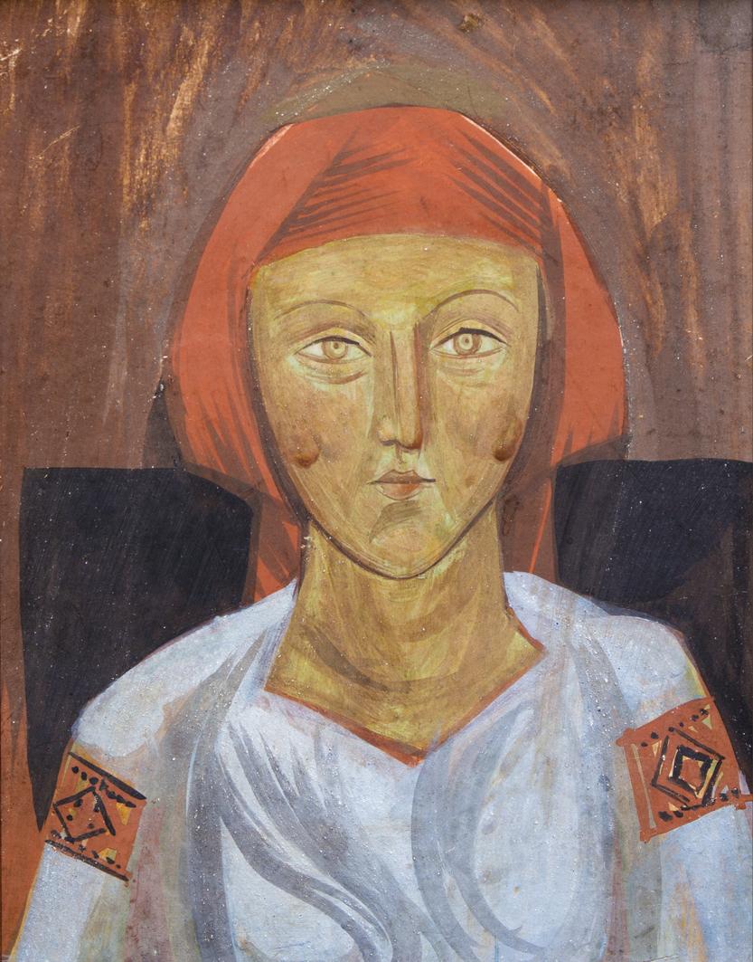 Михайло Бойчук. Дівчина, 1910; папір,темпера, олія; ЛНГМ