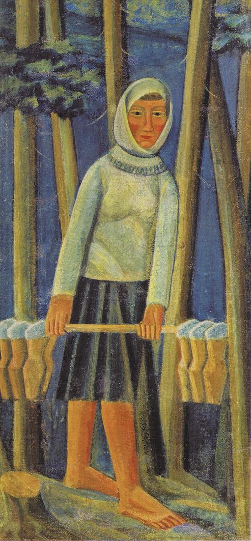 Михайло Бойчук. Молочниця, 1922; полотно, олія; НХМУ