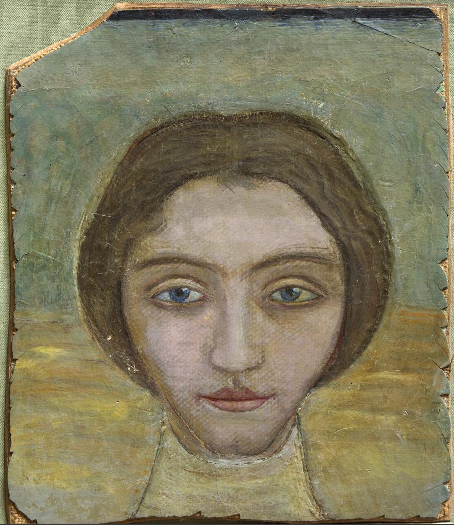 Михайло Бойчук. Жіночий портрет, 1910-і; дерево, темпера