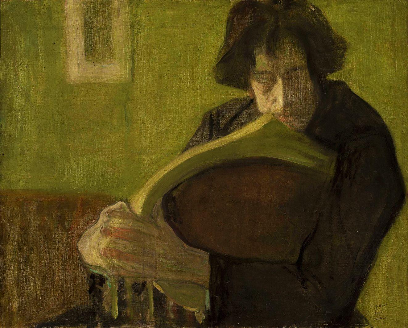 Леопольд Ґоттліб. Чоловік в кріслі, 1907; олія, полотно; NMW