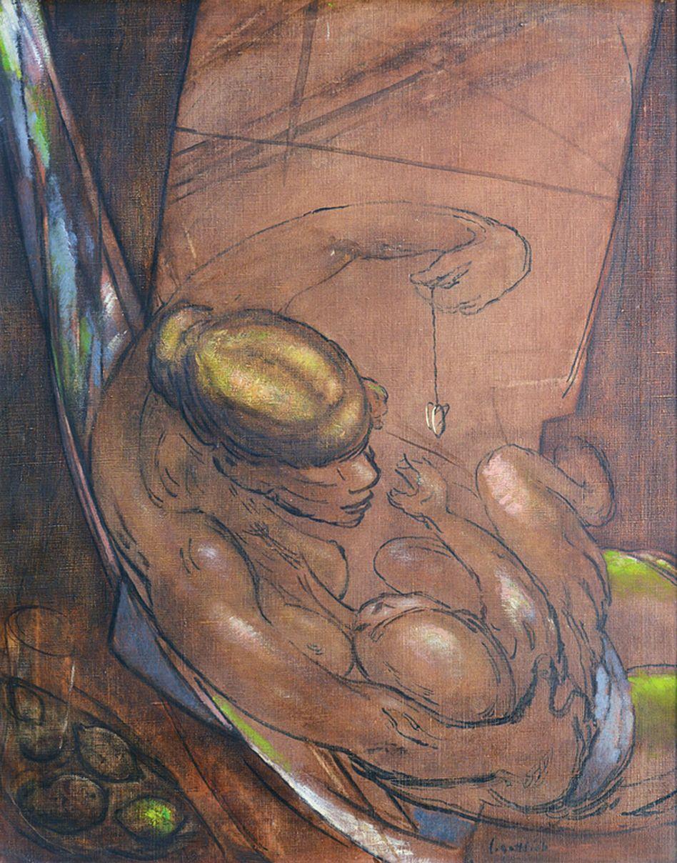 Леопольд Ґоттліб. Годуюча мати, 1930; олія, полотно