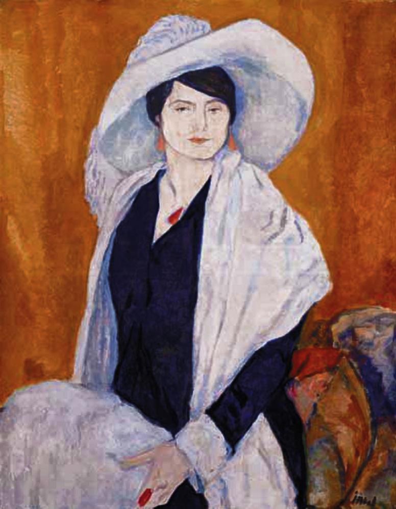 Леопольд Ґоттліб. Хелена Рубінштейн 1908; олія, полотно
