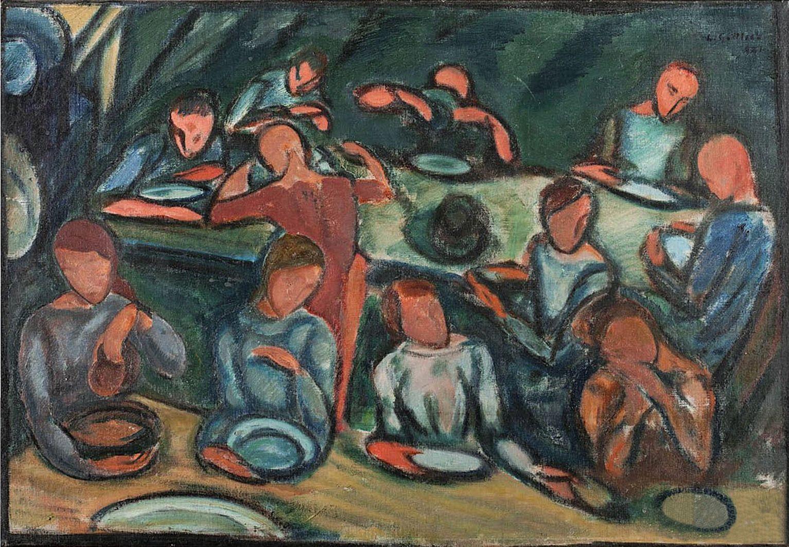 Леопольд Ґоттліб. Сардини, 1921; олія, полотно
